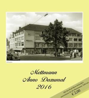 Kalender Mettmann Anno Dazumal 2016