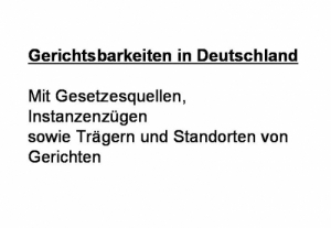 Übersicht über deutsche und internationale Gerichtsbarkeiten