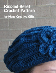 Rippled Beret Crochet Pattern