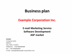 Businessplan Email Marketing und Software
