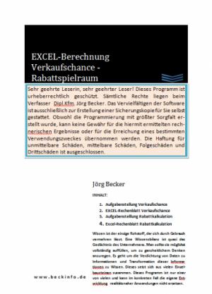 EXCEL-Berechnung Verkaufschance - Rabattspielraum