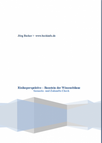 Risikoperspektive - Baustein der Wissensbilanz