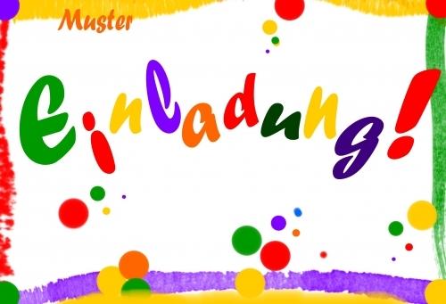 Tolle farbenfrohe Einladung