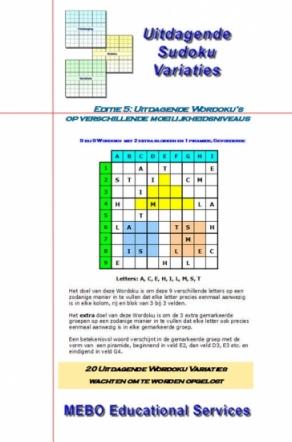 Uitdagende Wordoku Variaties, div. moeilijkheden, Editie 005
