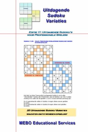 Uitdagende Sudoku Variaties voor Professionals, Editie 011