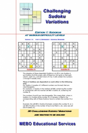 Challenging Sudoku Variations Edition 001