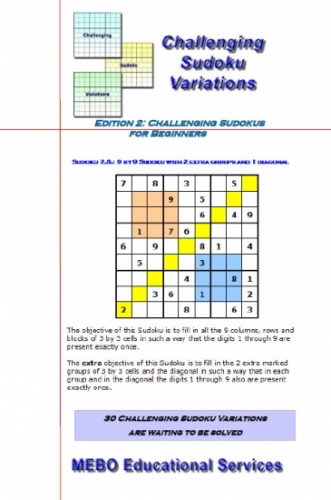 Challenging Sudoku Variations for Beginners Edition 002