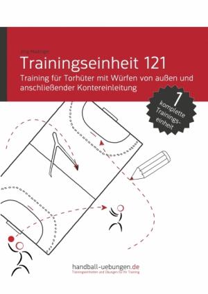 Training für Torhüter mit Würfen von außen und