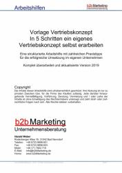 Vorlage für ein Vertriebskonzept im B2B Vertrieb
