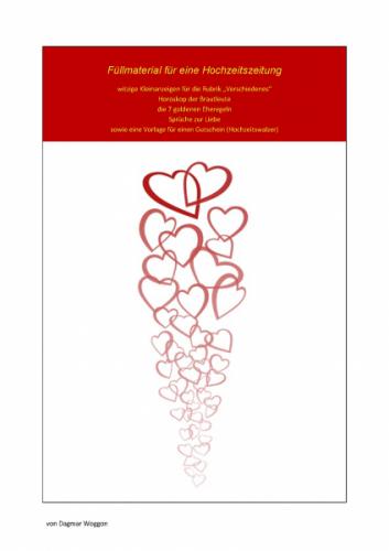 Füllmaterial für die Hochzeitszeitung Kleinanzeigen uvm