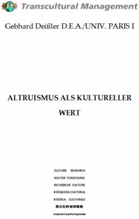 Altruismus als kultureller Wert