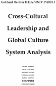 Cross-Cultural Leadership and Global Culture System Analysis