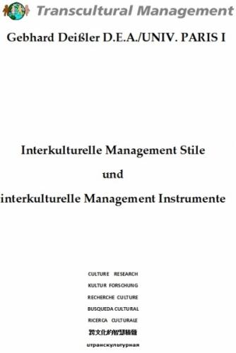 Interkulturelle Management Stile und interkulturelle Manag