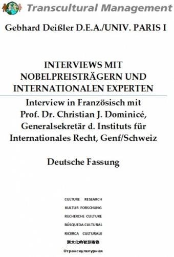 INTERVIEWS MIT NOBELPREISTRÄGERN UND INTERNATIONALEN EXPERTE