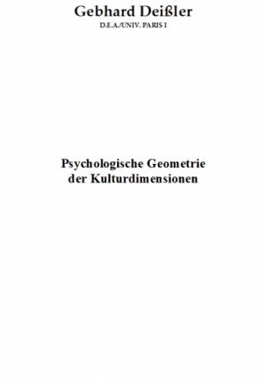 Psychologische Geometrie der Kulturdimensionen