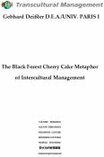 The Black Forest Cherry Cake Metaphor of Intercultural Manag