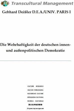 Die Wehrhaftigkeit der dt. innen- und außenpol. Demokratie