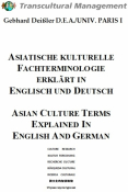 ASIATISCHE KULTURELLE FACHTERMINOL. ERKL. IN ENGL. U. DT.