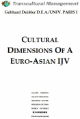 CULTURAL DIMENSIONS OF A EURO-ASIAN IJV