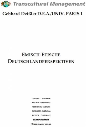 EMISCH-ETISCHE DEUTSCHLANDPERSPEKTIVEN