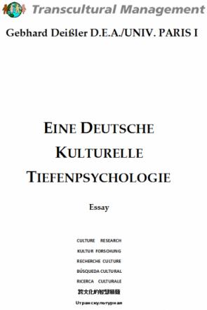 EINE DEUTSCHE KULTURELLE TIEFENPSYCHOLOGIE