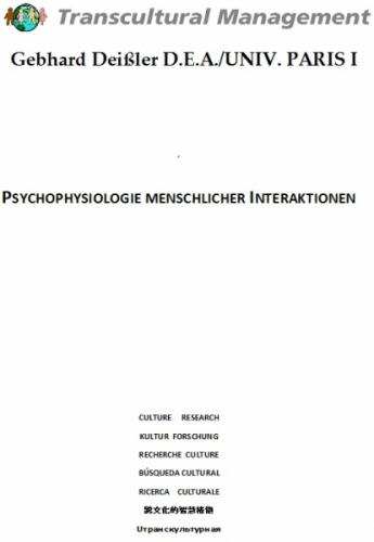 PSYCHOPHYSIOLOGIE MENSCHLICHER INTERAKTIONEN