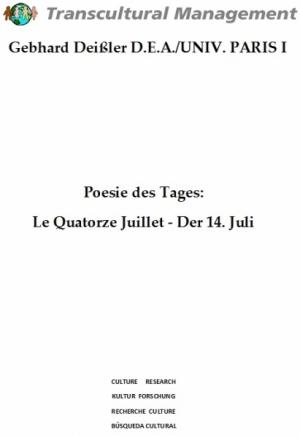 Poesie des Tages: Le Quatorze Juillet - Der 14. Juli
