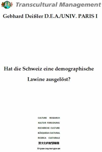 Hat die Schweiz eine demographische Lawine ausgelöst?