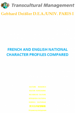 FRENCH AND ENGLISH NATIONAL CHARACTER PROFILES COMPARED