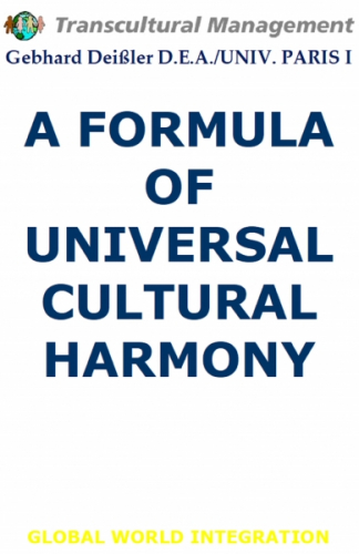 A FORMULA OF UNIVERSAL CULTURAL HARMONY