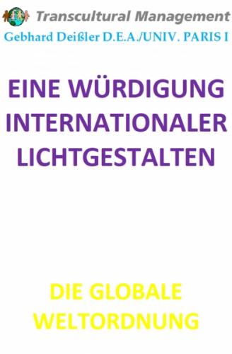 EINE WÜRDIGUNG INTERNATIONALER LICHTGESTALTEN