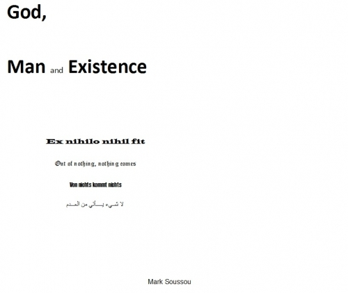 God, Man and Existence