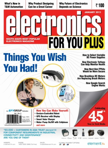 Electronics For You, January 2013
