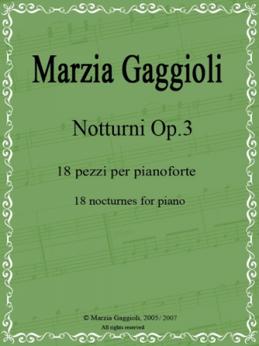 Notturni Op.3 by Marzia Gaggioli