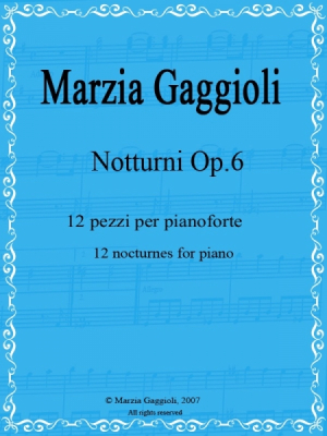 Nocturnes Op.6 by Marzia Gaggioli