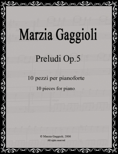 Preludi Op.5 by Marzia Gaggioli