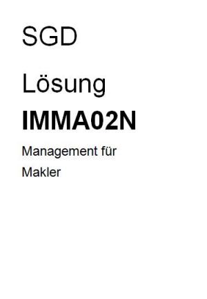IMMA02N des Kurses geprf. Immobilienmakler
