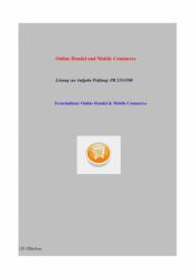 Online Handel und Mobile Commerce