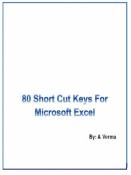 80 Shortcut Keys For Microsoft Excel