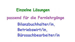 ESA Lösungen / Lernhilfe / Mustervorlage BBO01 - BBO03