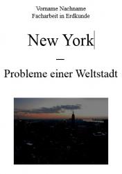 Facharbeit: Erdkunde: New York: Problme einer Weltstadt