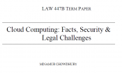 Cloud Computing: Facts, Security & Legal Challenges