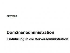 SERV05D - Domänenadministration