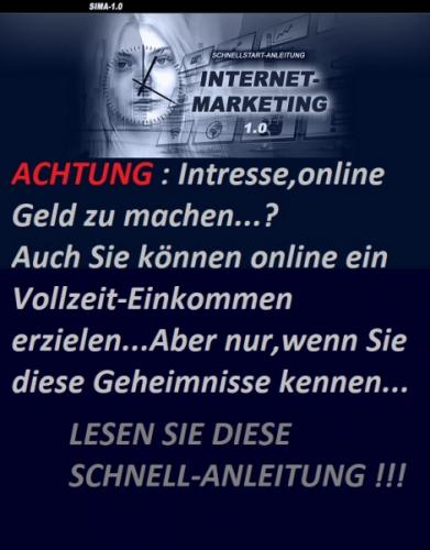 Schnellstart Anleitung Internet Marketing 'Sima'