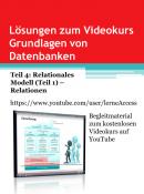 Grundlagen von Datenbanken - Lösungen 4: Relationen