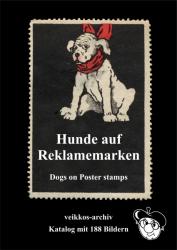 Hunde auf Reklamemarken