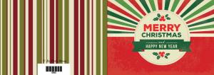 Grußkarte zum Selberdrucken - Merry Christmas & Happy NY