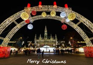 Postkarte zum Selberdrucken - Merry Christmas