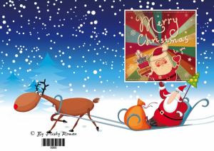 Grußkarte zum Selberdrucken - Merry Christmas