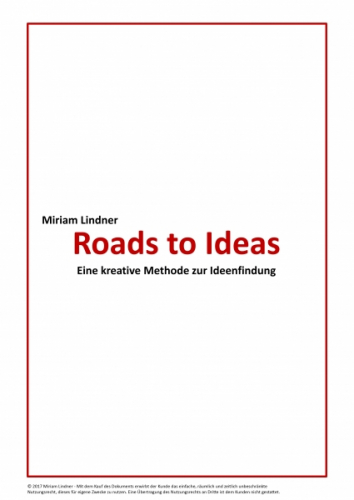 RTI - ROADS TO IDEAS - Anleitung